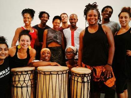 Training with guest artist Mohamed Diaby!